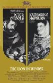 The Lion In Winter movie poster (gold) starring Peter O'Toole & Kate Hepburn