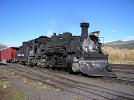 D&RGW loco 487 [built 1925] in the yards at Chama, NM (October 2007)