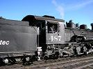 D&RGW loco 487 [built 1925] and the engine driver at Chama, NM (October 2007)