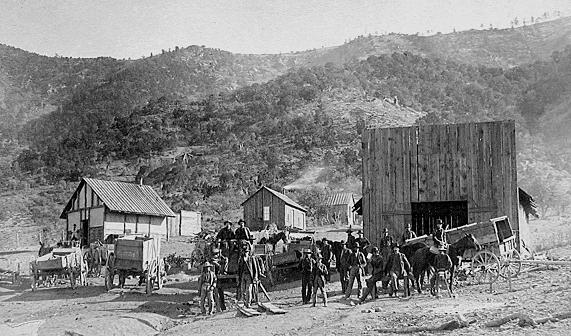 the mining camp of Kelly in Socorro County, New Mexico - circa 1880
