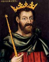 oil portrait of King John Plantagenet [1167-1216]