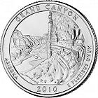 2010 park series U.S. quarter for Grand Canyon National Park in Arizona