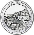 2012 park series U.S. quarter for Chaco Culture National Historical Park in NW New Mexico