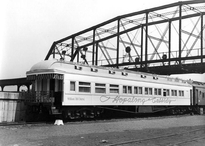 Hopalong Cassidy's private railcar parked in Chicago